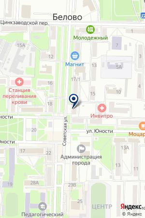 МАГАЗИН МИР ЗВУКА на карте Белово