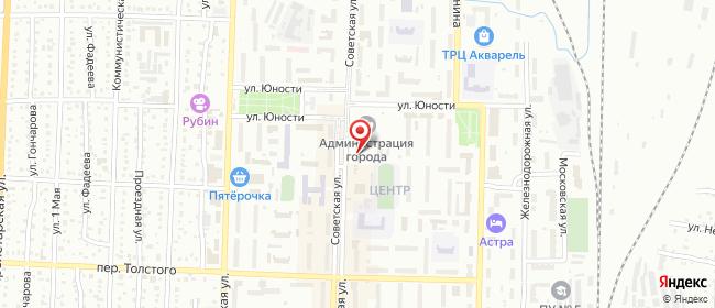Карта расположения пункта доставки Ростелеком в городе Белово