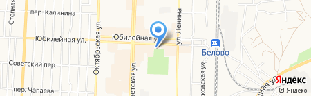 Премьер на карте Белово