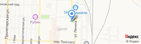 Магазин хлебобулочных изделий на ул. Юности на карте Белово