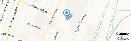 Служба заказа автобусов на карте Белово