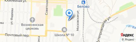 Центральная детская библиотека на карте Белово