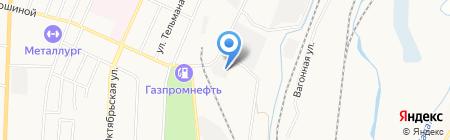 Бердовская Таежная на карте Белово