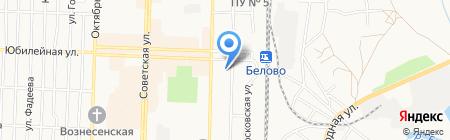 Банкомат Газпромбанк на карте Белово