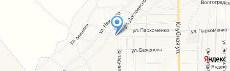 Продуктовый магазин на ул. Достоевского на карте Белово