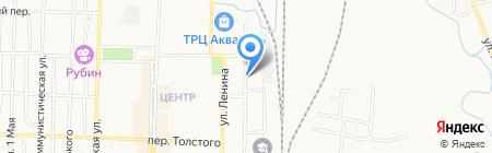 Автостоянка на Железнодорожной на карте Белово