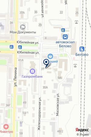 ТОРГОВЫЙ КОМПЛЕКС ПРИВОКЗАЛЬНЫЙ на карте Белово