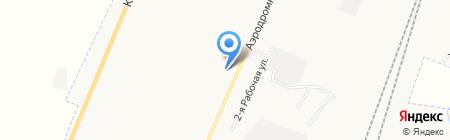 Автомойка на Аэродромной на карте Белово