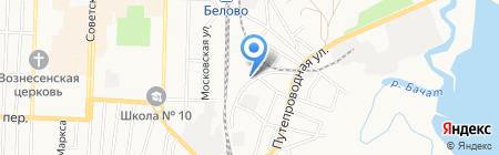 КУЛИБИН на карте Белово