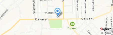Средняя общеобразовательная школа №9 на карте Белово