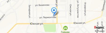 Меркит на карте Белово