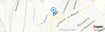Почтовое отделение связи №3 на карте Белово