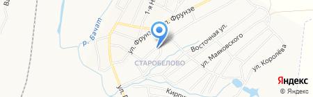Продуктовый магазин на Кузнецкой на карте Белово