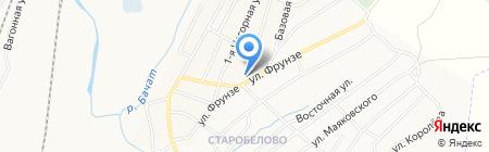 Центр на карте Белово