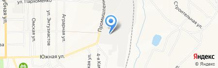 Разрез Новобачатский на карте Белово