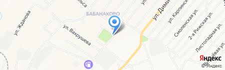 Продуктовый магазин на ул. Тимирязева на карте Белово