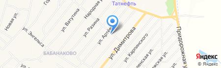 Продуктовый магазин на ул. Артёма на карте Белово