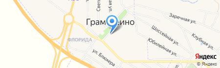 Продуктовый магазин на ул. 60 лет Комсомола на карте Грамотеино