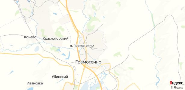 Грамотеино на карте