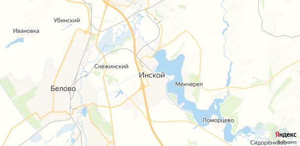 Инской на карте