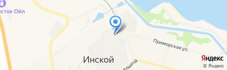 Беловская Автоколонна на карте Инского