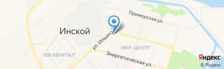 Магазин мужской одежды на ул. Ильича на карте Инского