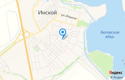 Местоположение на карте пункта техосмотра по адресу Кемеровская область - Кузбасс, г Белово, пгт Инской, тер Гаражный массив Илькаева 8, д 1