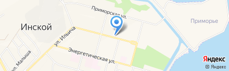 Почтовое отделение связи на карте Инского