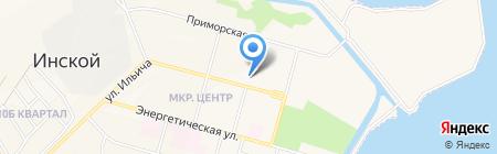 Территориальное управление п.г.т. Инской Администрации Беловского городского округа на карте Инского