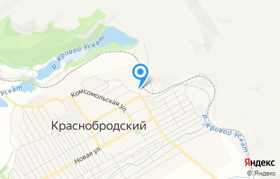 Местоположение на карте пункта техосмотра по адресу Кемеровская область - Кузбасс, пгт Краснобродский, пер Угольный, д 3В