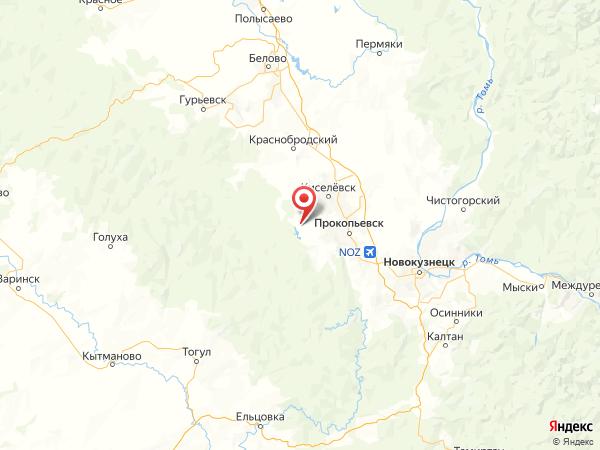 поселок Красная Поляна на карте