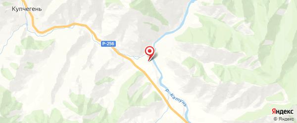 Местность Кур-Кечу на карте