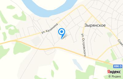 Местоположение на карте пункта техосмотра по адресу Томская обл, с Зырянское, ул Свердлова, д 29 стр 1
