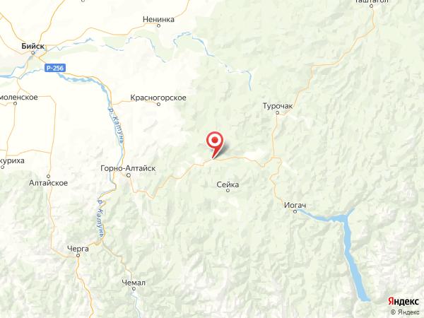 село Советское на карте
