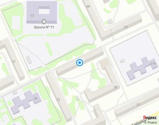 Товарищество собственников жилья «ТСЖ №7» на карте Прокопьевска