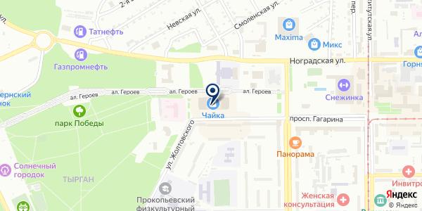 Магазин овощей и фруктов на карте Прокопьевске