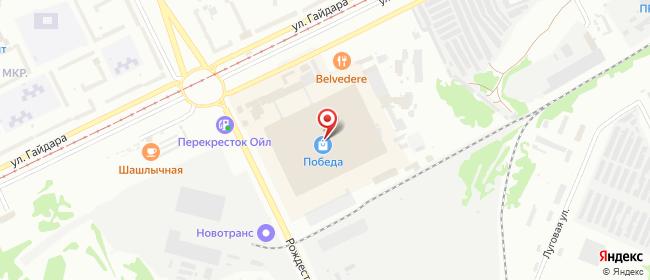 Карта расположения пункта доставки Прокопьевск Гайдара в городе Прокопьевск