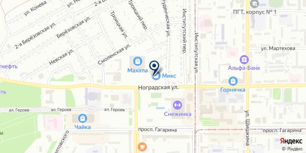 Центр золото на карте Прокопьевске