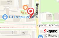 Схема проезда до компании Интел-Синдикат в Прокопьевске