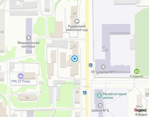 Управляющая компания «ЖХ» на карте Прокопьевска