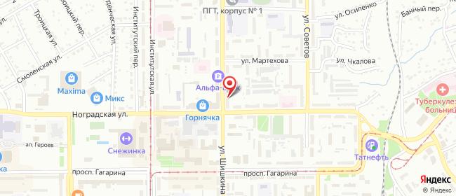 Карта расположения пункта доставки Прокопьевск Шишкина в городе Прокопьевск