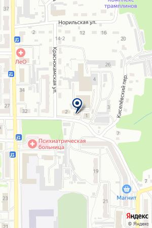 МАГАЗИН СТРОИТЕЛЬНЫХ ТОВАРОВ ПРОРАБ на карте Прокопьевска