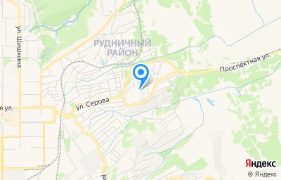 Местоположение на карте пункта техосмотра по адресу Кемеровская область - Кузбасс, г Прокопьевск, ул Высокогорная, д 14