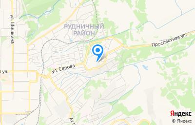 Местоположение на карте пункта техосмотра по адресу Кемеровская область - Кузбасс, г Прокопьевск, ул Высокогорная, зд 14