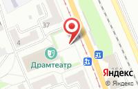 Схема проезда до компании Инвестуголь в Прокопьевске
