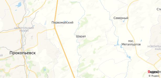 Шарап на карте