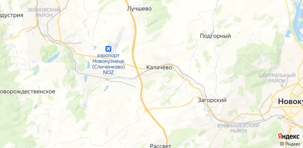 Калачево на карте