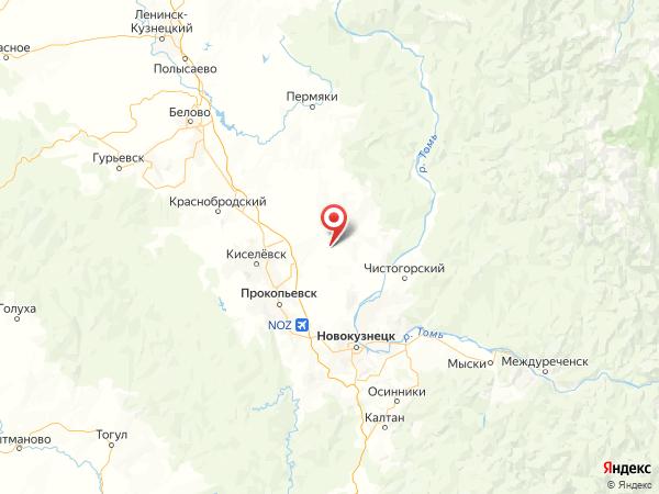 поселок Весёлый на карте