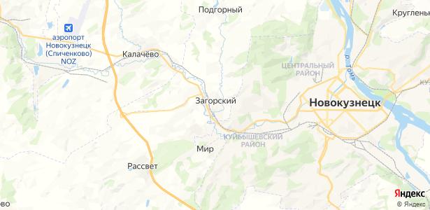 Загорский на карте