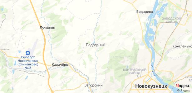 Подгорный на карте